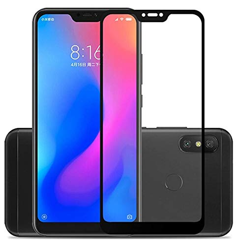 Mobilive Screen Protector with 2.5D Curved Edges | 9H Hardness | Full Screen Edge to Edge |11D Tempered Glass for Redmi 6 Pro - Black