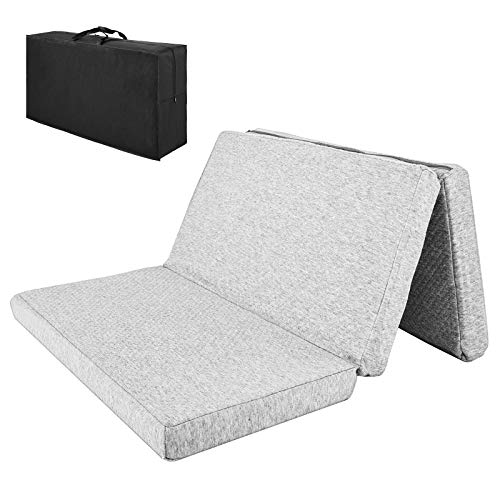 "Tri-fold Pack and Play Mattress,38"" x 26"" Foldable Breathable Soft Crib Mattress for Babies and Toddlers,with Bonus Easy Handle Carry Bag"