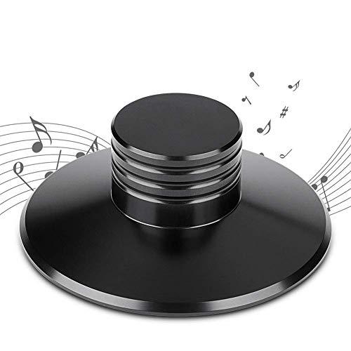 Mugast LP Platinum Stabilizer,Hochpräziser Aluminium Disc Lock Stabilizer für Vinyls, CD Player, Lautsprecher usw.(Schwarz)