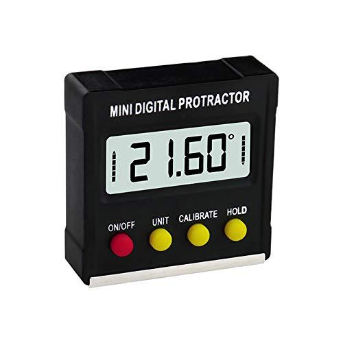 Digital Angle Finder Gauge Magnetischer Winkelmesser, Mini Level Bevel Gauge Schwarz Mit Magnetischem Balancer Und 360 ° Rückwärtsmessung Für Stahlbearbeitung Und Maschinenbau
