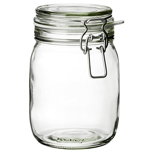 IKEA(イケア) KORKEN 30213547 ふた付き容器, クリアガラス