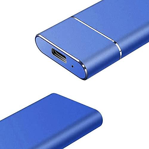 Disco duro externo ultrafino SSD Disk Portable Hard Drive, 500G/1TB/2TB/4TB/6TB/8TB disco duro para PC, sobremesa, portátiles, MacBooks, Chromebooks y consolas Xbox One (4TB azul)