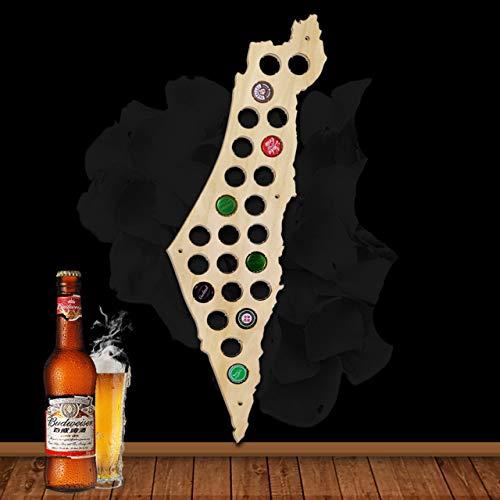 Israel Karte Bierkarte Bier Gap Karte 109 Farben - ein Geschenk für Männer Eine lustige Geschenkidee für Bierfreunde und Geschenke für Bierfreunde & Bier Geschenke - Platz