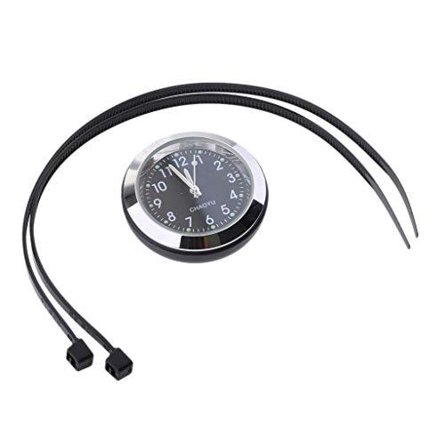 D DOLITY Relojes de Manillar de Motocicleta Indicador de Tiempo, Relojes Especiales para Acciones de Motocicleta - Negro