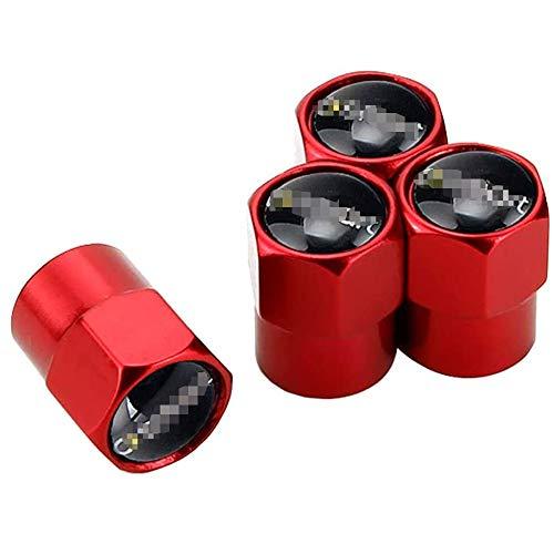 4 STK Auto Metall Reifenventilkappen, Reifen Ventilkappen Für Den Smart Brabus Roadster GLA SLS C180 A200 W210 W211 G500 Mit Logo Emblem Rad Dekoration ZubehöR
