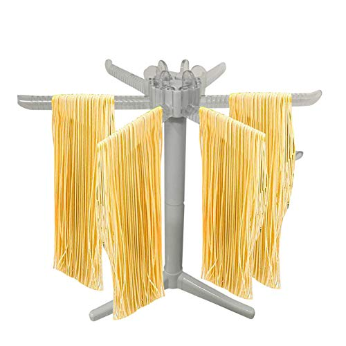 FYBlossom Pastatrockner aus Holz,Nudeltrockner Nudelständer für Selbstgemachte Pasta Wäscheständer, Pastabaum mit 6 Abnehmbar zur Aufbewahrung Pastatrockner Nudelstange