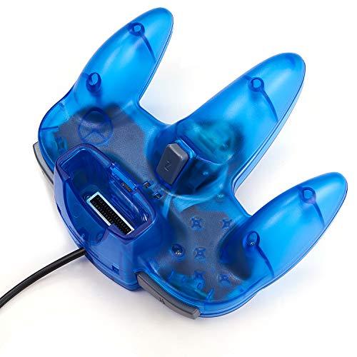iNNEXT Gamepad Joystick für N64 Controller, Plug & Play (nicht USB-Version), Transparent, Blau, 2 Stück