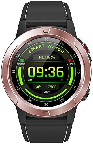 YSSJT Reloj inteligente con soporte GPS independiente, barómetro, brújula, altitud, ritmo cardíaco y actividad física, podómetro, contador de calorías BT-Gold