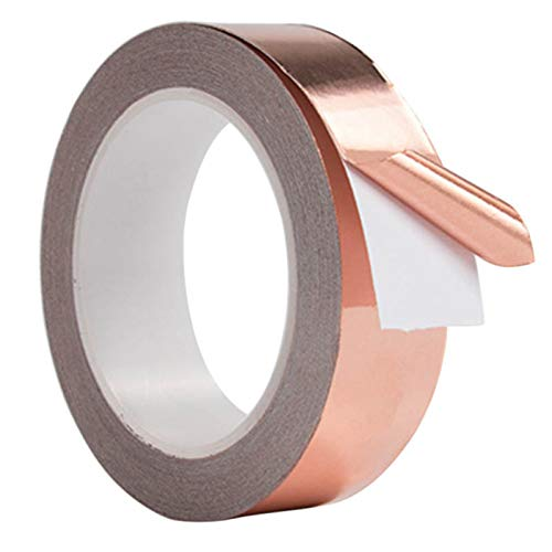 ERHETUS 30 mm resistente al agua de cobre puro cinta autoadhesiva resistencia...