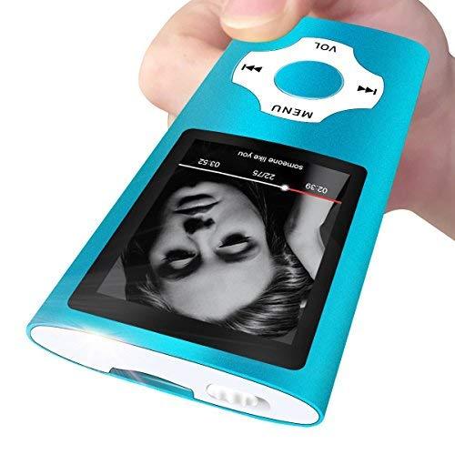 Mymahdi Reproductor portátil MP3 / MP4, Azul Claro con Pantalla de 1,8 Pulgadas LCD y Ranura para Tarjetas Memory Card, Tarjeta de 128 GB de Memory Card de Alta Capacidad Memory Card TF