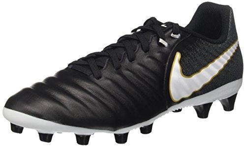 Nike Tiempo Ligera IV AG-Pro, Botas de fútbol para Hombre, Negro Black White Black Metallic Vivid Gold, 42 EU