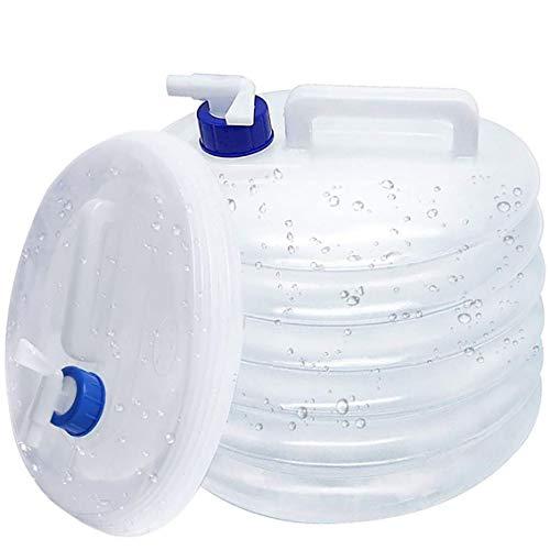 Recipiente de Agua Plegable, BESTZY Tanque de Agua de Silicona de Grado alimenticio, Dispensador de Bebidas, Contenedor Plegable de Agua con Grifo, sin BPA, Apto para Alimentos, 15 L