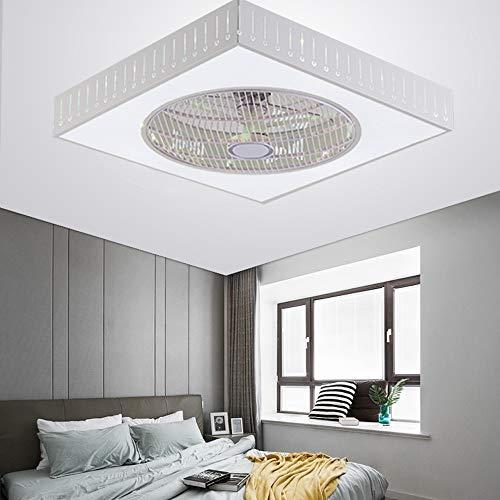 OUKANING Ventilador de techo con control remoto,220V 40W Moderno LED Ventilador de techo Lámpara de techo Tres colores brillantes Ventilador de techo para dormitorio Sala de estar,Ø55CM (Gota de agua)
