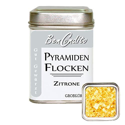 Pyramidenflocken mit Zitrone - Pyramidensalz | Fa. BenCondito | 90 Gramm in der Salzdose
