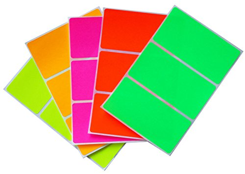 Royal Green Moving Sticker Color Code Labels in 5 Assorted neon Colors 4 x 2 Labels (102 mm x 51 mm) - 30 Pack