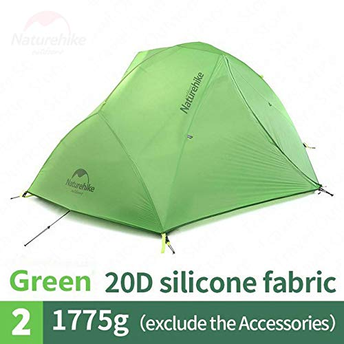 Mdsfe Snow Skirt Tent Upgraded Star River Camping Tent Ultralight 2 Person 4 Season 20D Silicone Tent with Free Mat   Backpacking Tent-20D-Green
