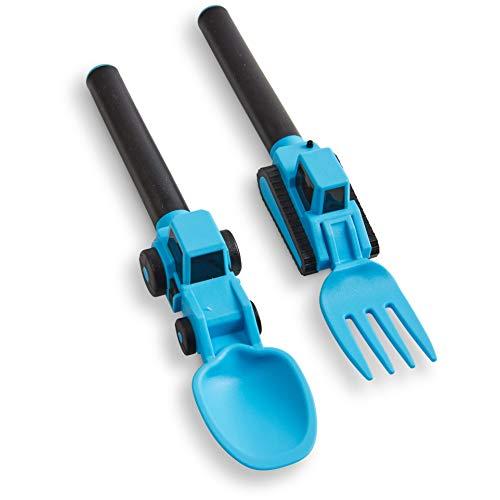 Dinneracive Set de Cubiertos para Niños - Tenedor y Cuchara Temáticos para Niños Pequeños - Set de 2 piezas