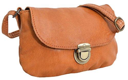 Umhängetasche Handtasche Ledertasche Vintage Braun Leder