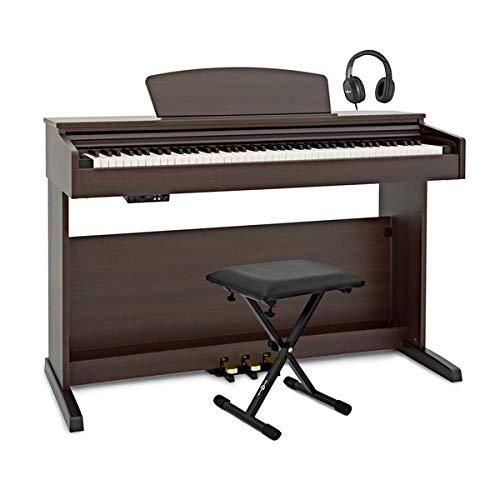 DP-10 X Pianoforte Digitale Gear4music + Pacchetto Accessori Palissandro Scuro