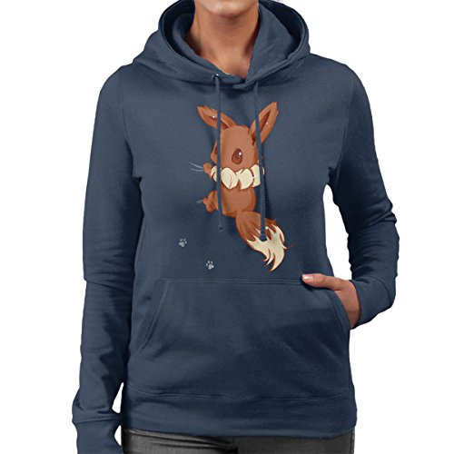 Cloud City 7 Cute Eevee Women's Hooded Sweatshirt