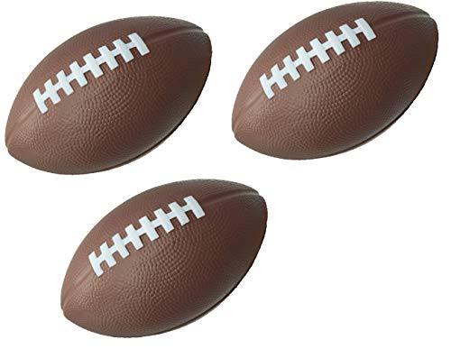 LMC Foam Footballs 3 Pack of Brown 7.25 Inches