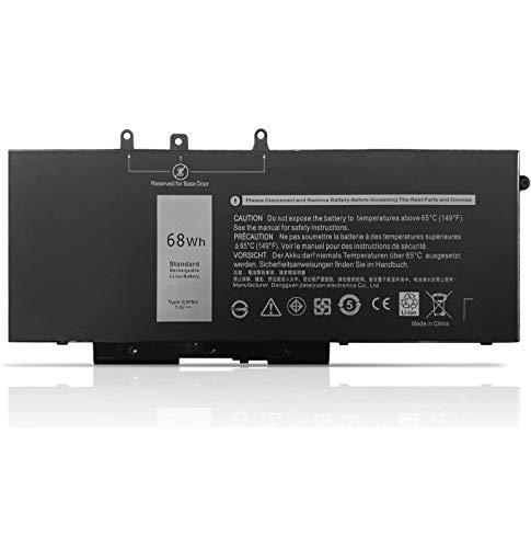 Dentsing 7.6V 68Wh/8500mAh 4-Cell GJKNX Laptop Battery Compatible with Dell Latitude E5480 E5580 E5490 E5491 E5590 E5591 Precision 15 3520 M3530 Series Notebook 93FTF GD1JP DY9NT 5YHR4 451-BBZG