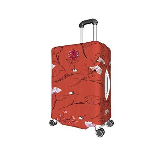 Knowikonwn - Protector para Maleta de Viaje, diseño de Flores, fácil de identificar, Varios tamaños para un montón de Equipaje, Negro (Negro) - Knowikonwn-scc