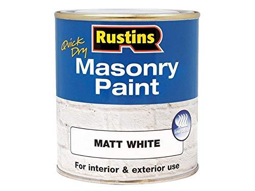 Rustins MASPW500 Masonry Paint White 500ml, 500