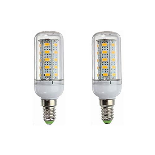 HEQIE-YONGP Bombilla LED 12V E14 Bombillas LED 6W, 40W Equivalente de luz Tradicionales, 400-450lumen de 360 Grados for RV Camper Marina 2-Pack para Garage Factory Warehouse High Bay Barn y Mor
