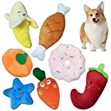 CovertSafe Squeaky Dog Toys, 7 Pack Puppy Toys, Cute Doy Chew Toy for Medium and Small Dogs, Soft Plush Pet Toys with Squeakers