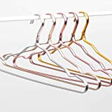 Ash & Roh Aluminum Alloy Hangers Metal Hangers Non Slip Cloth Hanger Stainless Steel Strong Metal Wire Hangers Clothes Hangers Pack of 6
