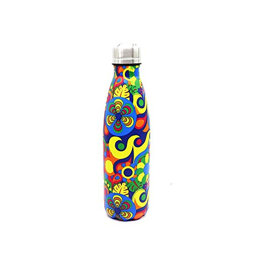 LOHOX Botella de Agua 500ml/750ml/1L Acero Inoxidable 18/8 Termo Sin BPA Ecológica Botellas Termica Reutilizable Frascos Térmicos para Niños Deporte Oficina Yoga Gimnasio