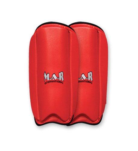 M.A.R International Ltd. Schienbeinschoner für Karate, Kampfsport, Taekwondo, Sparring, Ausrüstung, Boxzubehör, Kickboxen, Thaiboxen, MMA, Muay Thai, Pink, Junior