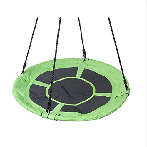 Columpio en forma de plato de 40 pulgadas, 900D Oxford tela ronda árbol columpio de juguete al aire libre, Columpio exterior para niños Amazon, Carga 500 lbs, Apto para niños mayores de 3 años.