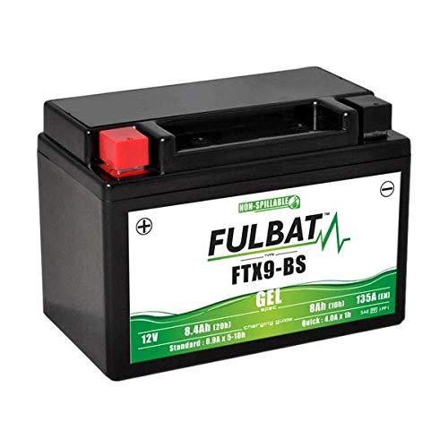 Batterie moto Fulbat - Etanche au Gel - FTX9-BS / YTX9-BS / BTX9 - 12V / 8Ah
