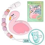 Pinza de dentición Dummy Clip Flamingo mordedor Chupete para niñas Sensory...