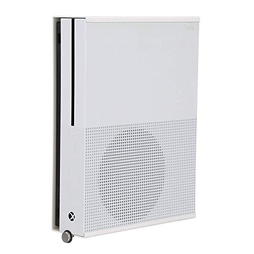 HumanCentric Wall Mount Compatible with Xbox One S (White) | Mount on the wall or on the back of the TV