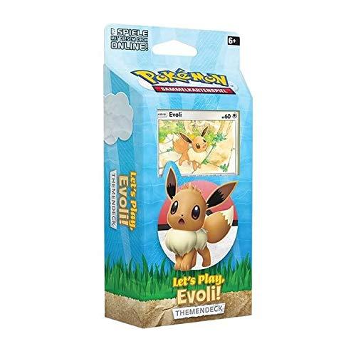 Lively Moments Pokemon Tarjetas Let ́s Play – Evoli Themendeck de alemán cartas coleccionables cartas de juego
