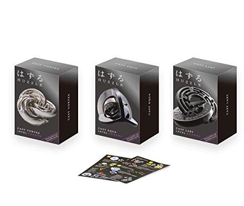 Cast Huzzle Puzzle Geschenkset No.6 Laby, Equa, Vortex - SG 5 und dt. Cast Katalog
