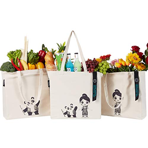 (50% OFF) Canvas Shopping Bags 3 Pack $14.48 – Coupon Code