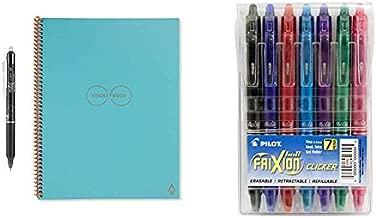 Rocketbook Everlast Smart Reusable Notebook, Letter Size, Neptune Teal Cover, 8.5