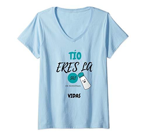 Mujer TÍO eres la sal de Nuestras Vidas Regalo Personalizado 2021 Camiseta Cuello V