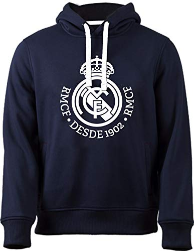 Real Madrid Sudadera cap-hoodie No 4marino-blanco