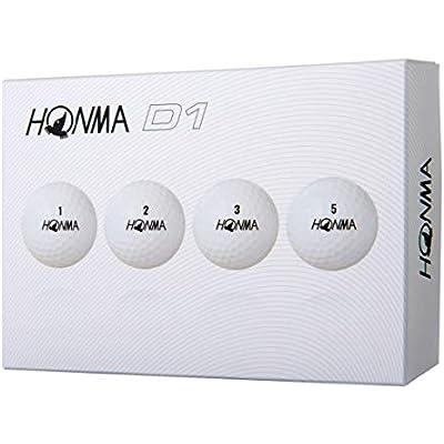 Honma D1 - Bolas de golf (1 docena), color blanco