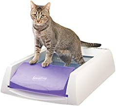 PetSafe PAL00-14242 ScoopFree Original Self-Cleaning Cat Litter Box - Automatic with Disposable Tray and Non-Clumping Crystal Litter - Purple