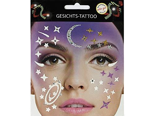 Gesichtstattoo Galaxy Tattoo Karneval Fasching Junggesellenabschied
