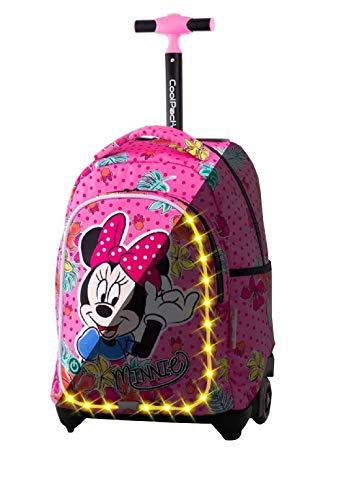 Minnie Tropical LED Grande Zaino Trolley Scuola Elementare per Bambina Ragazza