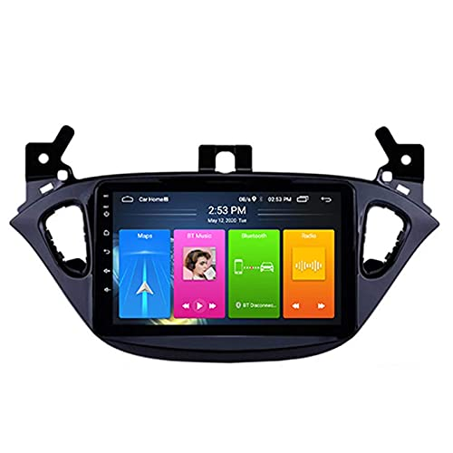 Android 10.0 Autoradio per Opel Corsa 2015-2016 Car Stereo GPS Navigazione Touch Display Auto Media Player Doppia DIN Head unit; Supporto WiFi Controllo del Volante WiFi(WiFi:1+16G)