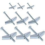 Ancoraggio a vite in acciaio 15 pezzi, tassello di espansione, per cartongesso, pareti cave o mattoni cavi M5 x 60 mm,M6 x 80 mm,M6 x 100 mm utilizzati per appendere oggetti pesanti su muri a secco