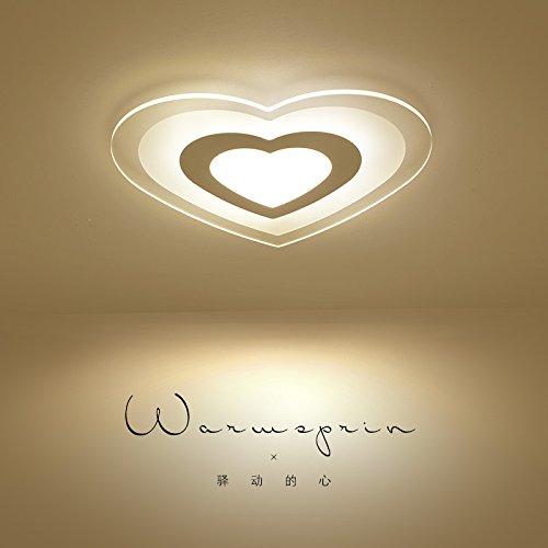 WoOnew Chambre d'enfant lampe de plafond Heart-Shaped minimaliste moderne Salon Salle à manger Chambre Fashion Spécialiste de lampes, 43cm